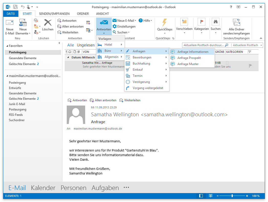 Reply Assistant: Textbausteine, automatische Anrede, Serien-E-Mails ...